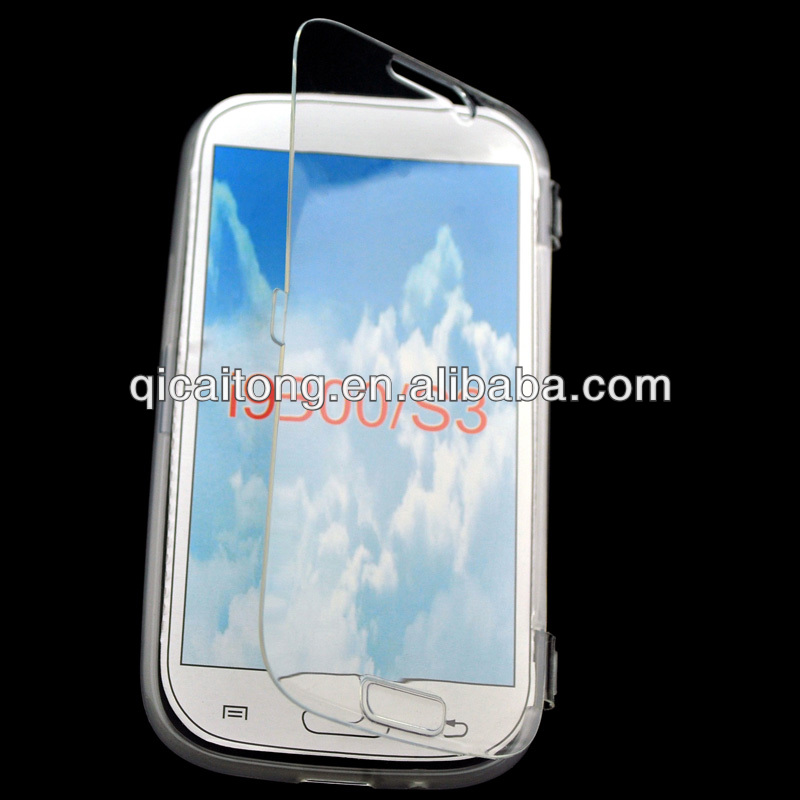 tpu filp leather touchable case cover for Sumsung galaxy SIII I9300
