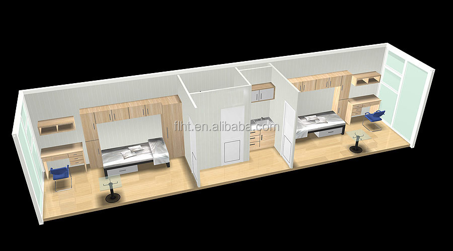 Luxury Shipping Container House With Two Bedrooms And Bathroom, Kitchen