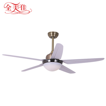 Decorative 52 inch three light indoor national high rpm ceiling fan with five blades