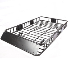 Universal Black Roof Rack Cargo with Extension Car Top Luggage Holder Carrier Basket