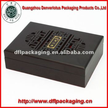 Graved wooden box matte paint
