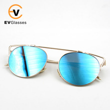 China Wholesale Stainless frame High Quality mirrow lenses Fashion Bifocal Sunglasses