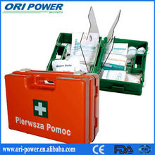 OP wholesale CE ISO FDA approved complete logo trauma auto hanging first aid kit industrial first aid kits