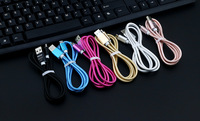 1m Fast Charging 2A Micro V8 Braided Fabic Nylon Woven USB Data Sync Charger Cable Cord Wire for Android Phone Smart Cell Phone