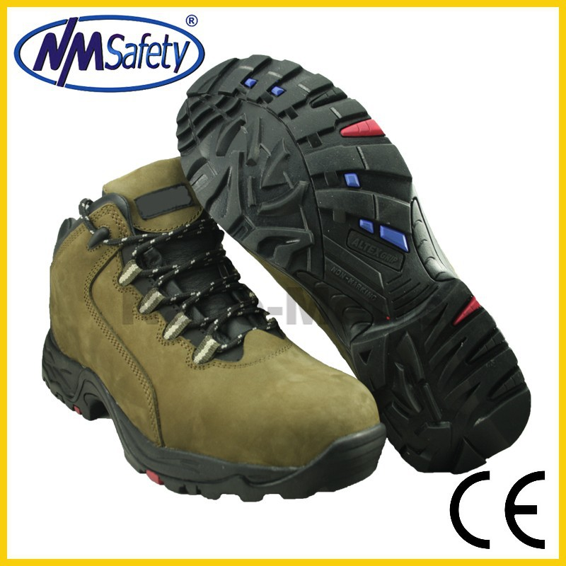 NMSAFETY Nubuck leather boots/Work boots/rubber shoe sole