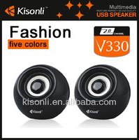 Plastic Small Round Mini Speaker Box With Candy Color
