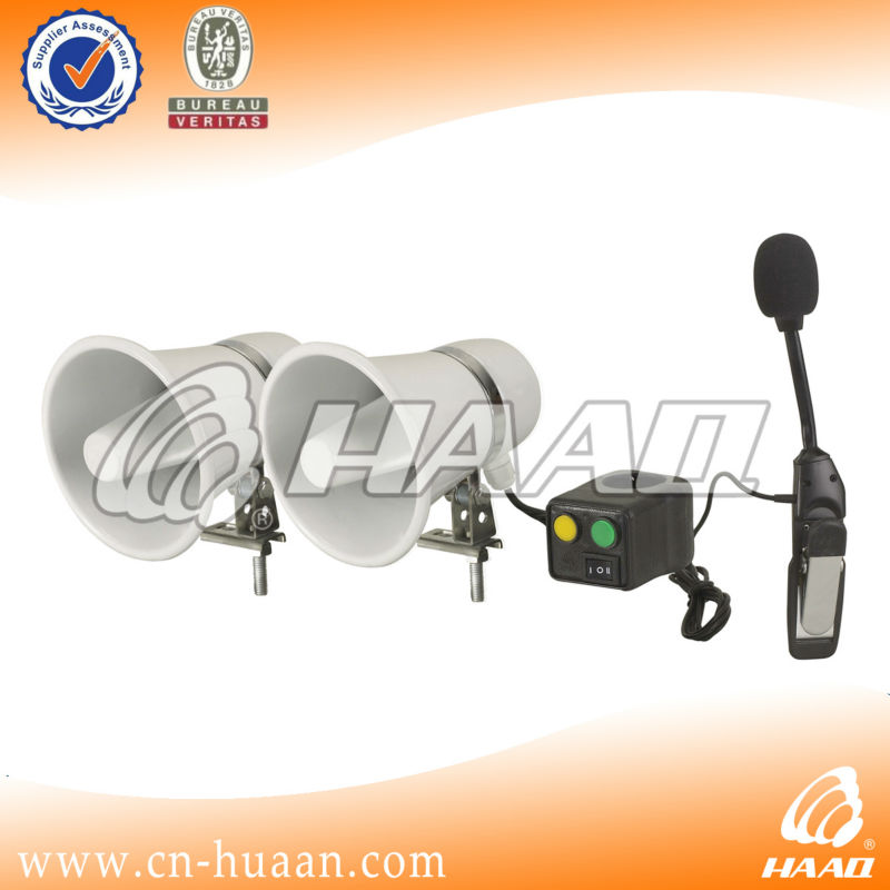 Police motorcycle siren horn and speaker