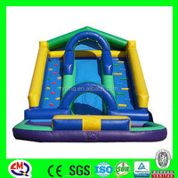 Blue giant inflatable castle slide, inflatable climbing slide, commercial inflatable water slide