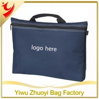 Promotional 600D woven polyester conference bag with carry handle and shoulder strap