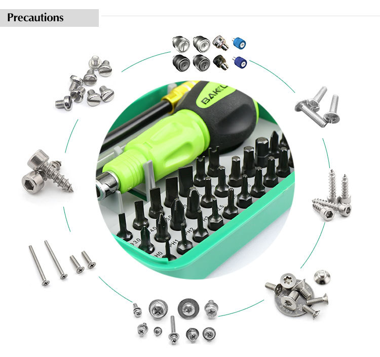 BAKU New design promotion BK-3034 high quality 34 in 1 Precision Scrwdriver multifunction hand tool set