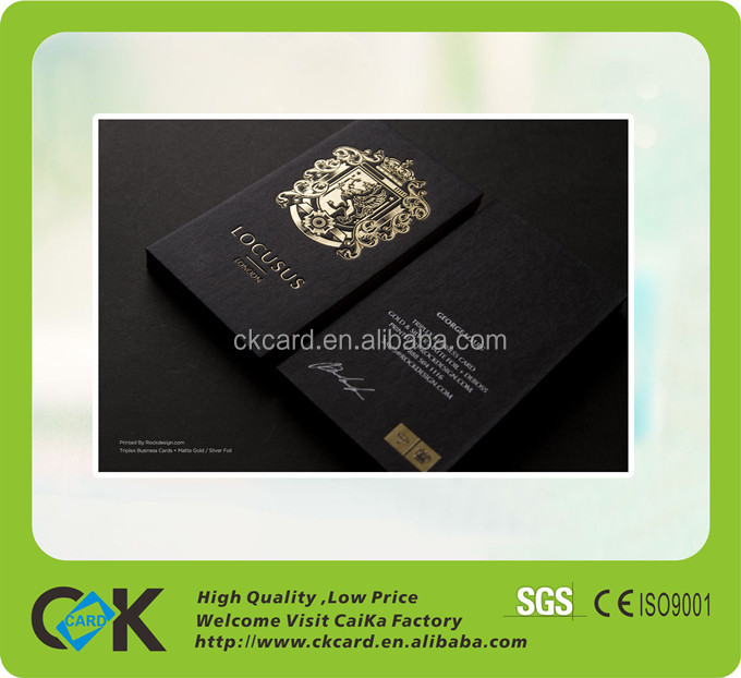 Custom Printing Black Matt Paper Business Card