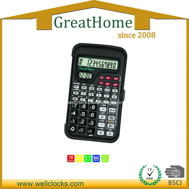 10 digit scientific calculator with clock