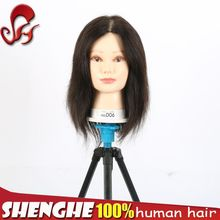 factory wholesale high quality human hair training head mannequin head bald wig