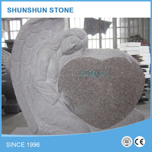 Prefabricated High Quality Angel Heart Headstone Monument Tombstone