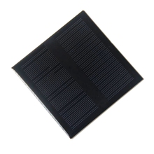 BUHESHUI 1W 18V Monocrystalline Solar Cell Module Solar Panel For 12V Battery Charger DIY Solar System 98*98MM Epoxy