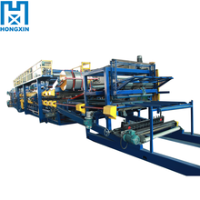 China Hydraulic Pump Colored Steel Composite Roof Tile Rock Wool Sandwich Panel Roll Forming Machine