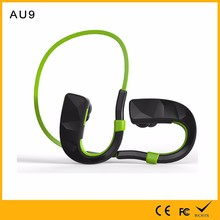 Super long standby 180 hours noise cancelling green neckband sport running headset bluetooth CSR V4.1 disposable earphones