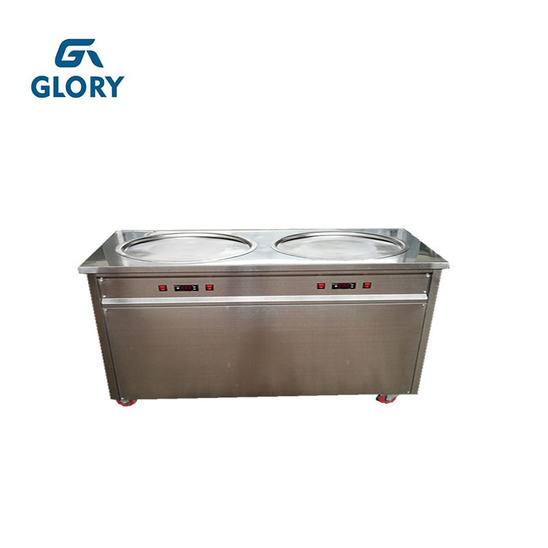 flat pan type new fried ice cream machine/ice cream machine thailand /fry ice cream roll machine