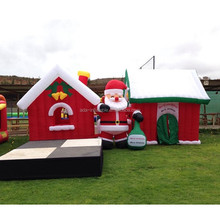 Christmas Event Decoration inflatable Santa House 3m Claus Inflatable Cartoon A100