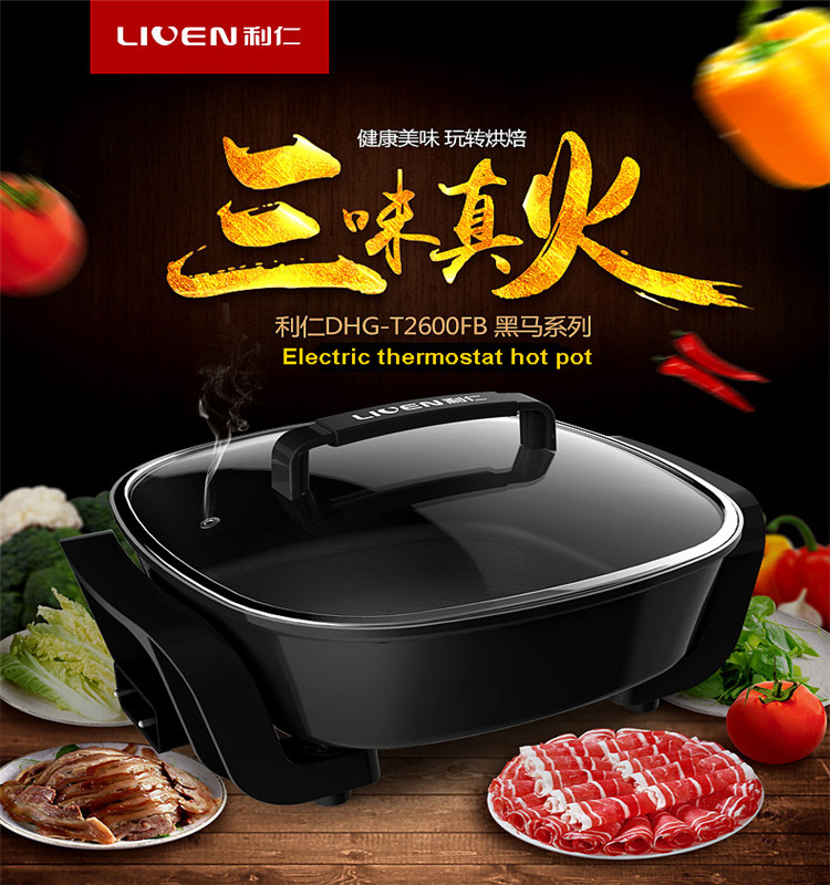 Black Electric noodles hot pot DHG-T2600FB