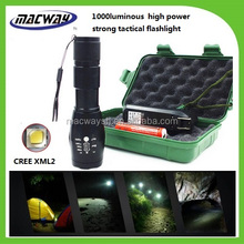 China Bulk Sale Aluminum 10w Emergency Powerful Zoomable Tactical Flashlight