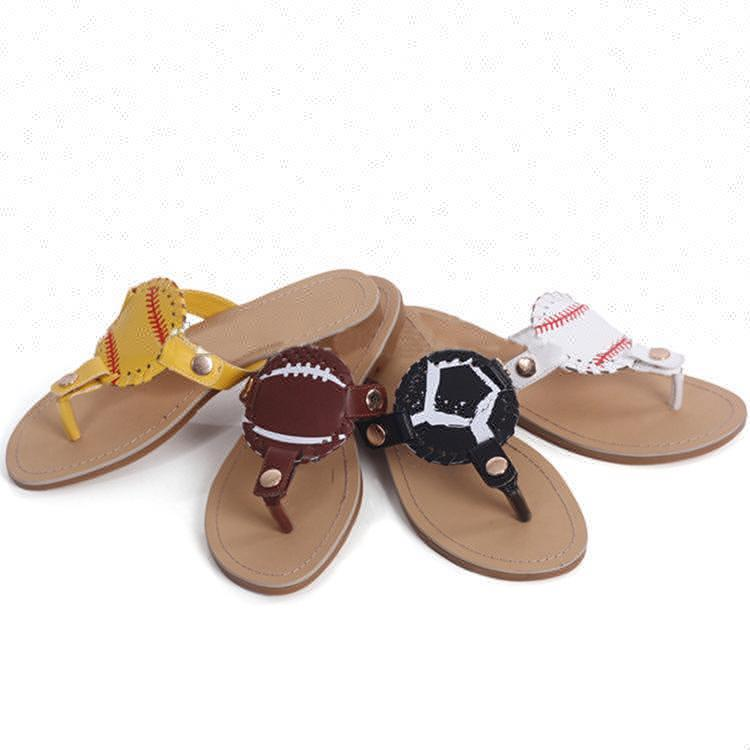 MY-032 2019 Beach Monogram Disc Baseball Custom Slide <strong>Sandal</strong> For Women