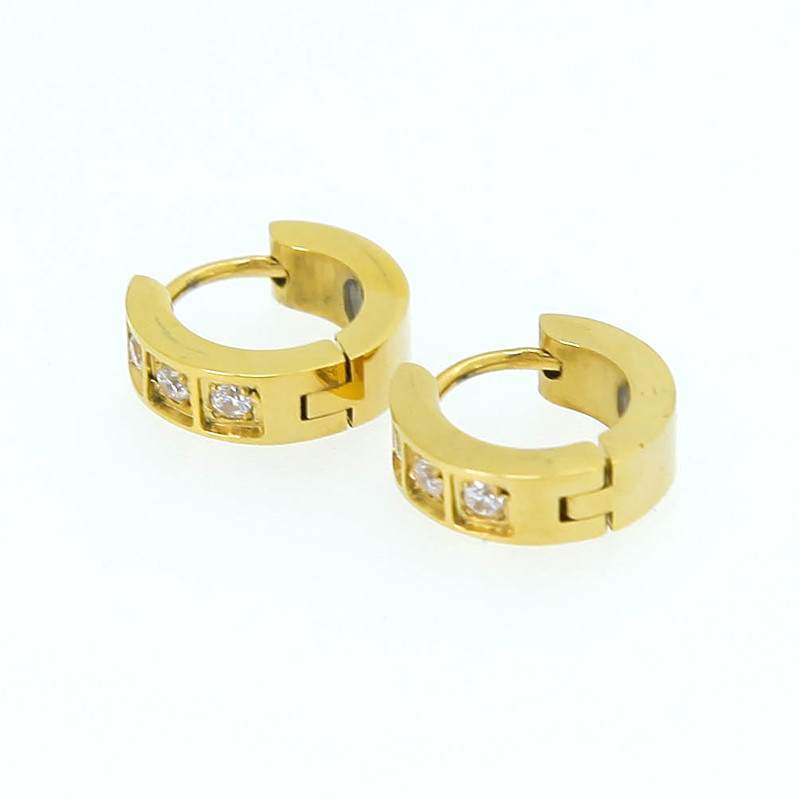 Fashion New Design Ear Rings 24K Gold Plated Earrings