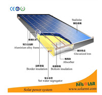 2015 Hot Sale Roof-mounted Heat Pipe Solar Water Heater System for Widely Used