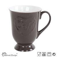 ceramic unique shape footed mug with handle