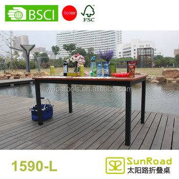 1.5m folding dining table garden table