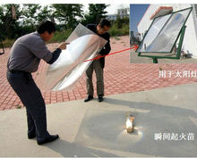 Big size fresnel lens solar concentrator for solar energy
