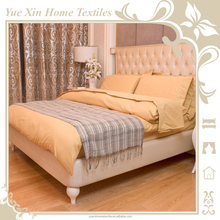 4pcs/5pcs Microfibre Polyester Duvet Cover Sets/Bed Sheet Sets with Woven Hemstitch Design for Wholesale