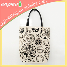 Canvas Tote bag from duffle bag with leather handles