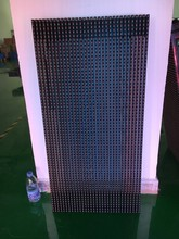 newst hd Waterproof IP65 LED Strip Curtain Display P15.625 SMD Outdoor Full Color Strip Curtain LED Display LED Advertising Wall