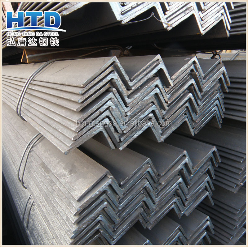 black and hot dipped galvanized equal leg angle steel /mild steel angle iron l