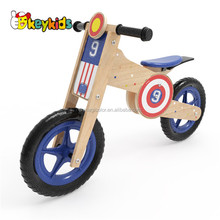 Wholesale cheap wonderful wooden toddler balance bike for kids learning ride quickly W16C181