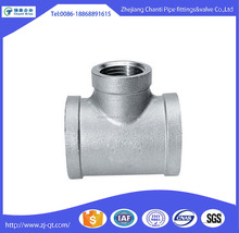 Stainless Steel Reducing Thread Tee Pipe Fitting