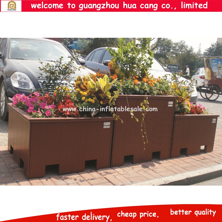 Wholesale durable outdoor flower pot garden gnome flower pots garden decoration flower wood pot