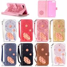 for Apple iPhone 7 7 Plus Wallet PU Stand Leather Case with Campanula Decoration,For iPhone Case