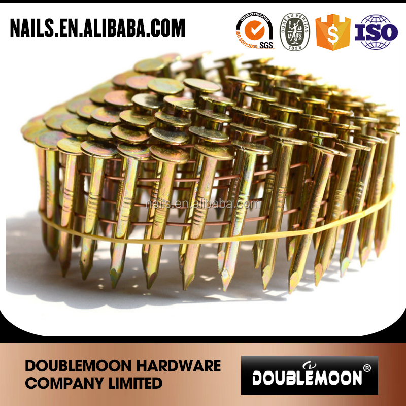 "1 1/4"" galvanized big head coil roofing nails"