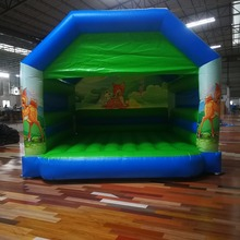 Children inflatable bouncing bed indoor home children toy mini castle naughty fort jumping bed