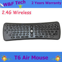 2.4Ghz Wireless keyboard T6 fly air mouse Axis Gyroscope multi-media player remote control for Mini PC/TV stick Player