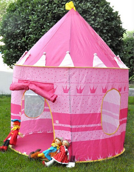 Portable Outdoor Folding Princess Castle Waterproof Kids Children Game Toy Play Tent
