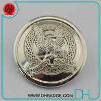 High quality round silver alphabet button manufacturer