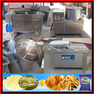 french fries machine/potato chips production machine/industrial potato chips making machine