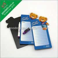 Hot sale children's blue bear magnet writing memo board