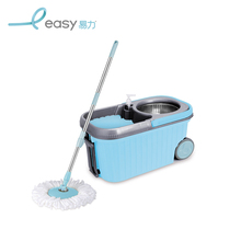 Double-drive stainless steel double best spin 360 floor bathtub mop and bucket