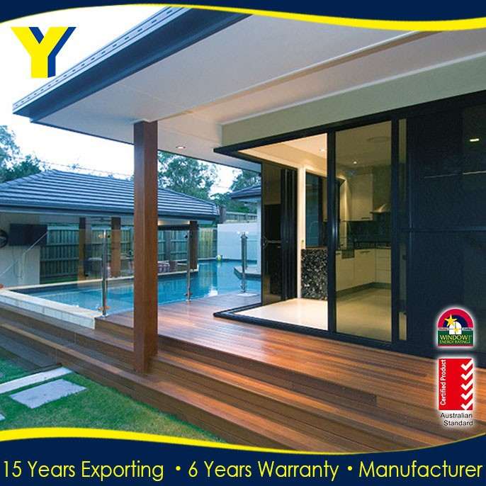 Powder Coated Aluminum Sliding Door/Double Glazed Aluminium Windows And Doors Comply with Australian Standards