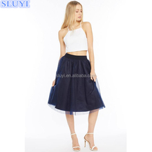 Apparel fashion OEM fashion for women gangbang wife short skirt latest design pictures puff midi skirts