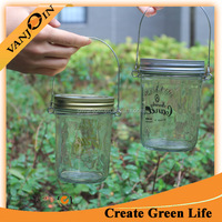 8oz DIY Hanging Mason Glass Jar White Candles Lights For Plants